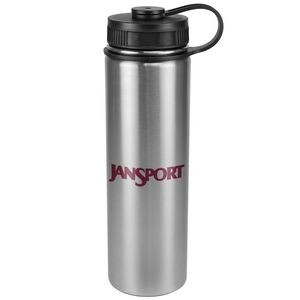 22 oz. Journey Flask - Double Wall, Stainless Steel with Plastic Lid.