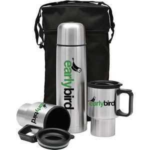 3 Piece Stainless Steel City Set w/ Thermos Carrying Case