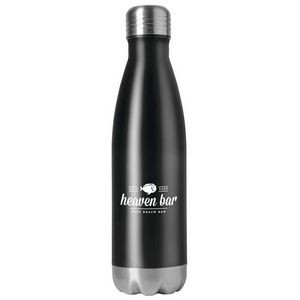16.9oz Double Wall Stainless Steel Vacuum Bottle in Black